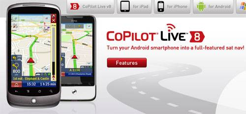 CoPilot Live GPS app for Android is only $4.99