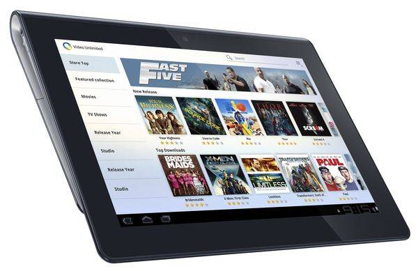 tablet s sony video unlimited
