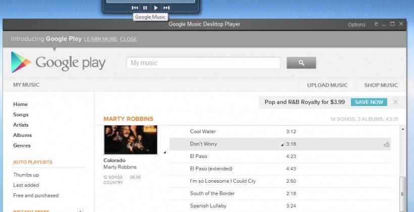 google music desktop