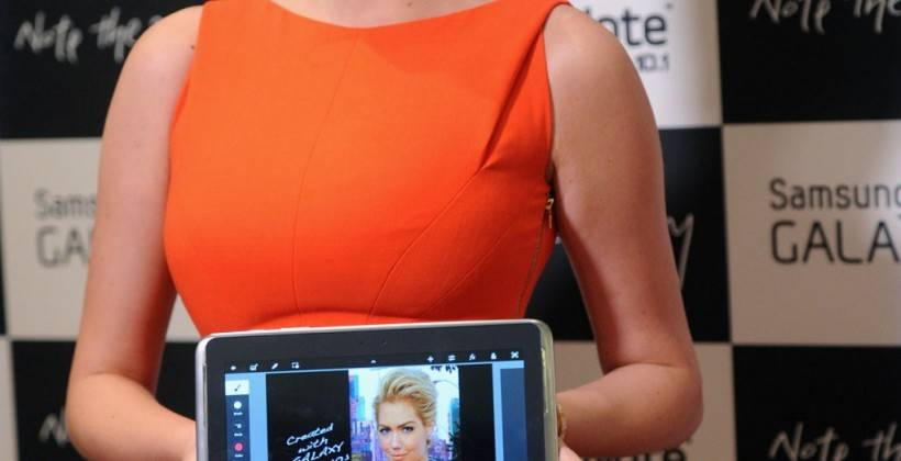 Kate Upton attends the Samsung Galaxy Note 10.1 Launch Event in New York City -05