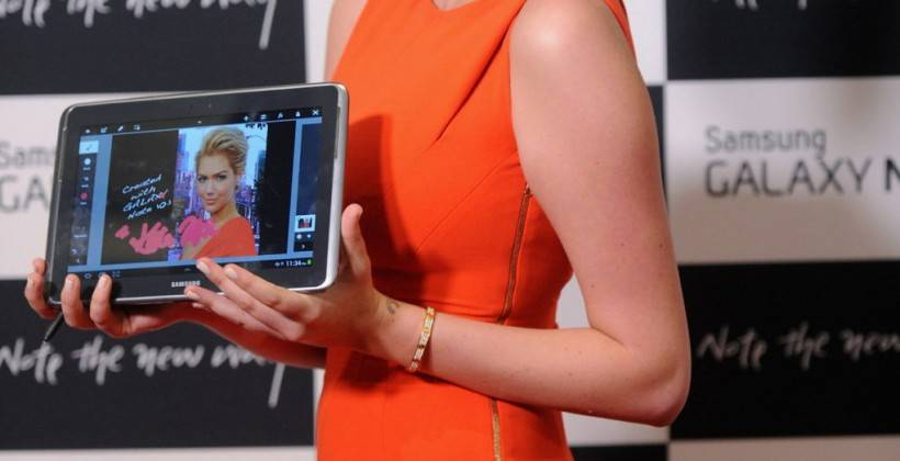 Kate Upton attends the Samsung Galaxy Note 10.1 Launch Event in New York City -07