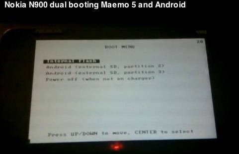 Nokia N900 with Maemo and Android