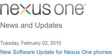 Nexus One | News and Updates