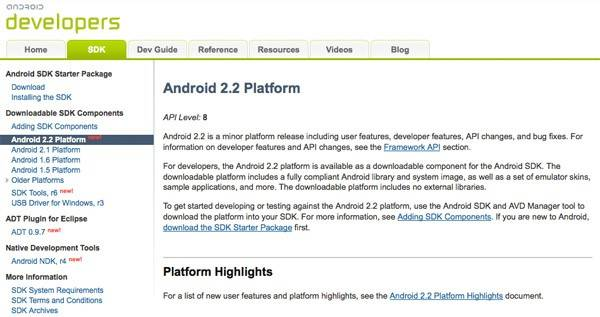 Android 2 2 Froyo SDK Available Right Now for Download