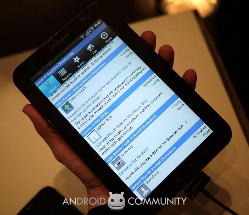 Samsung Galaxy Tab gets pocket-tested