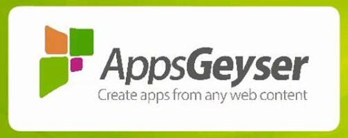 AppsGeyser turns any web content into an Android app