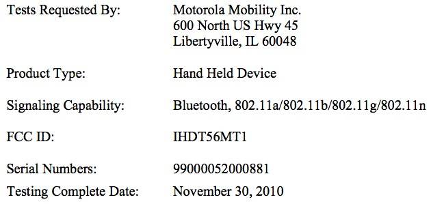 Motorola XOOM WiFi clears FCC - Android Community