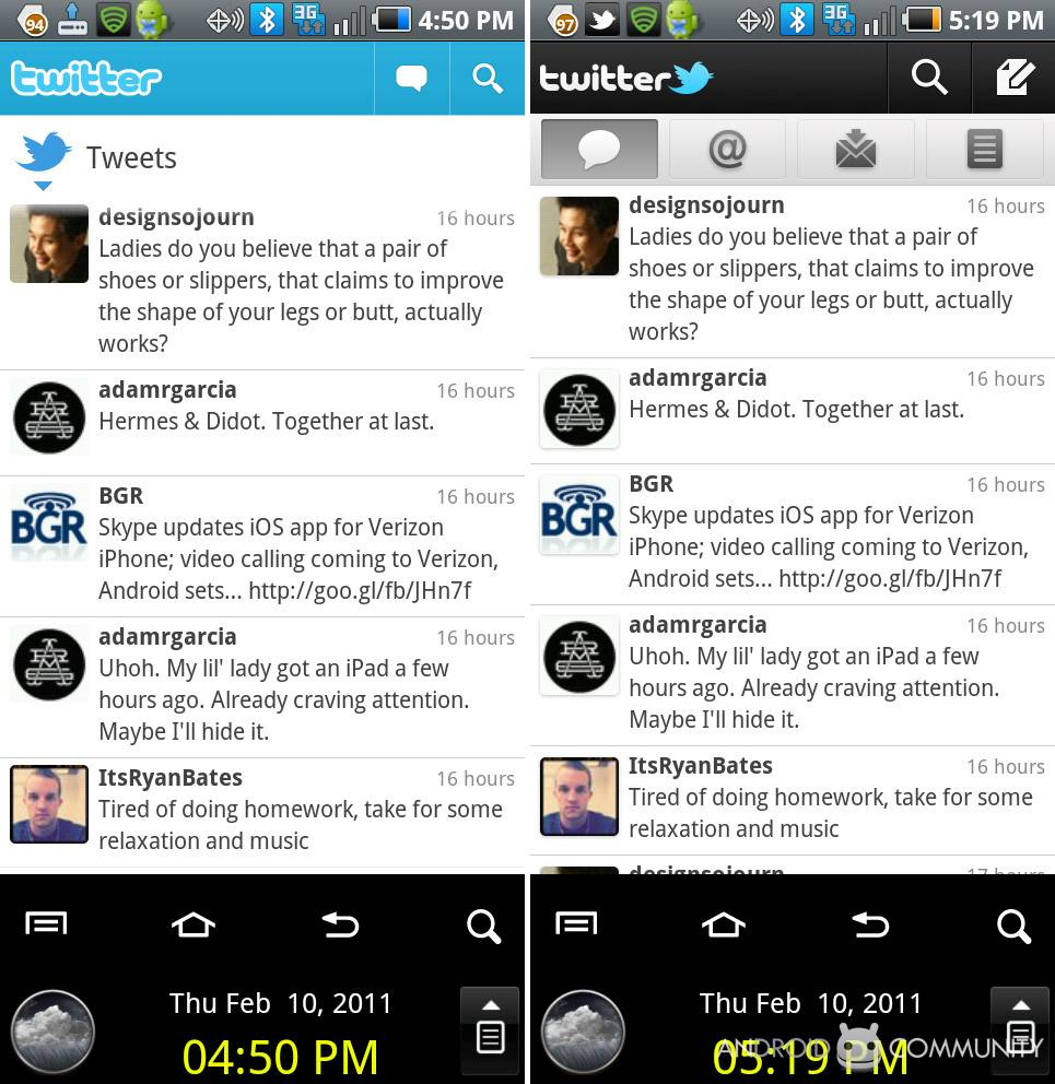 Twitter 2 0 for Android Review - Android Community