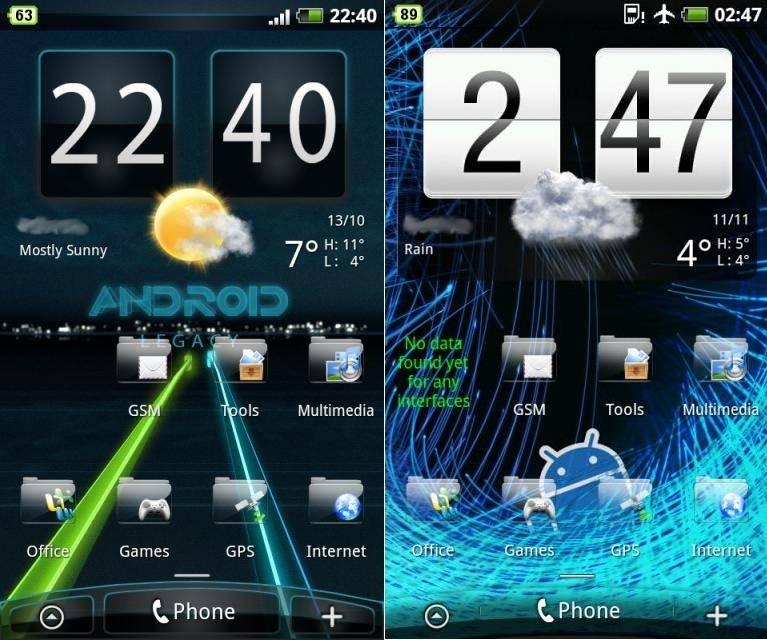 HTC Thunderbolt Download 30+ Skins for Sense UI 2 0