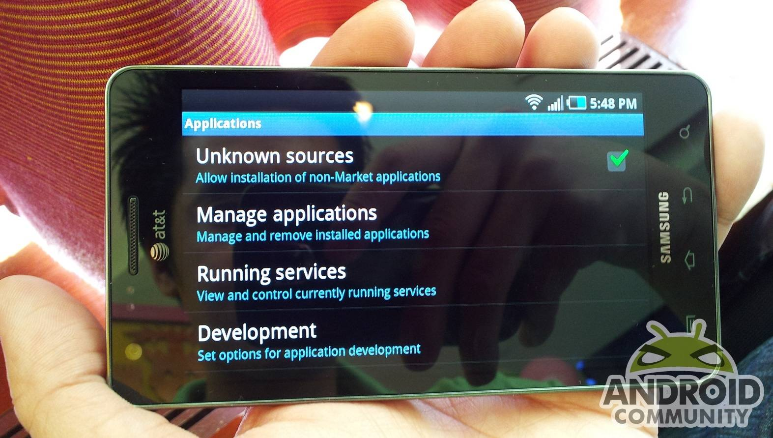 AT&T allows sideloading apps on the Infuse 4G - Android