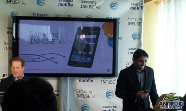 Samsung Infuse 4G First phone to support hspa+/hsupa at