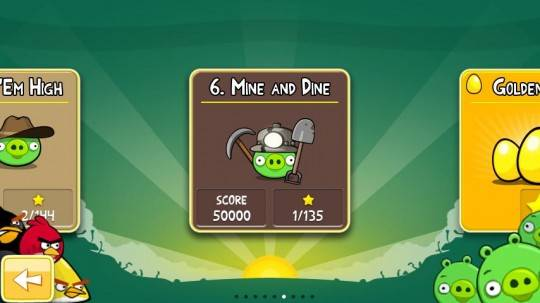 Angry Birds Update Mine and Dine for Android