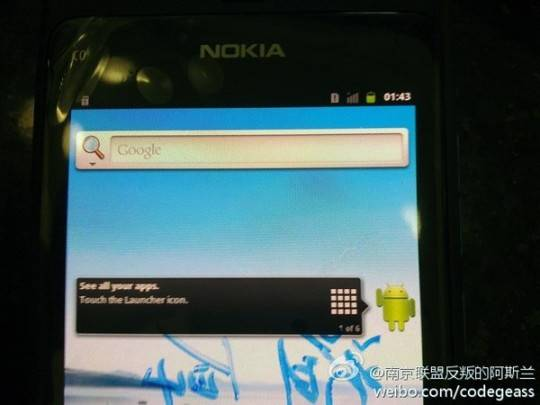 Nokia Android prototype caught in wild