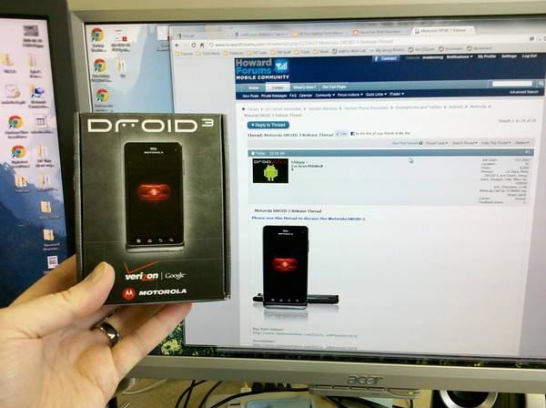 Droid 3 shipping