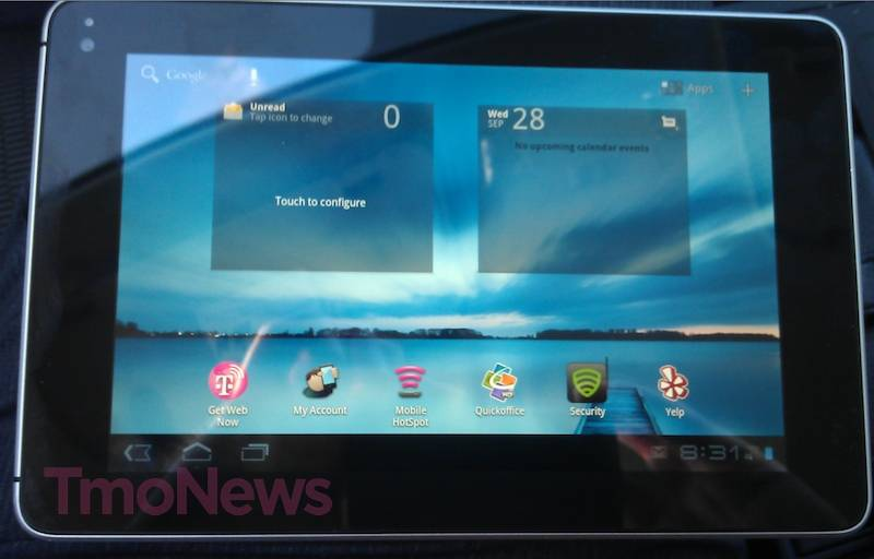 Huawai 7 inch Honeycomb tablet for T-Mobile