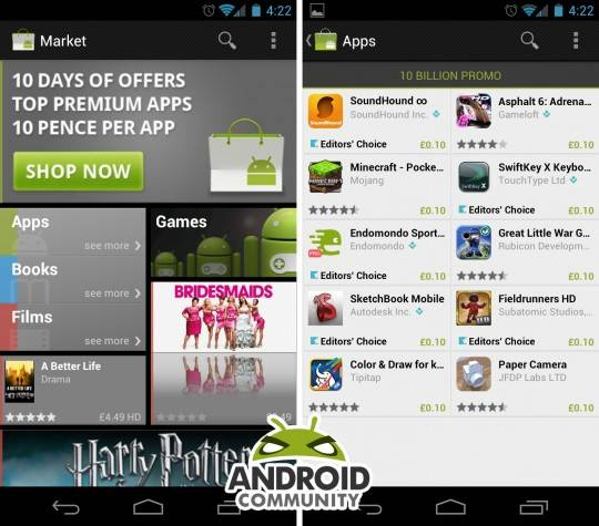 Android Market hits 10 billion app downloads, celebrates