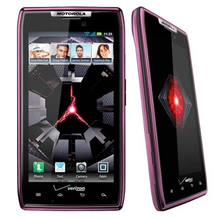 Verizon DROID RAZR in purple/light-pink available January 23rd
