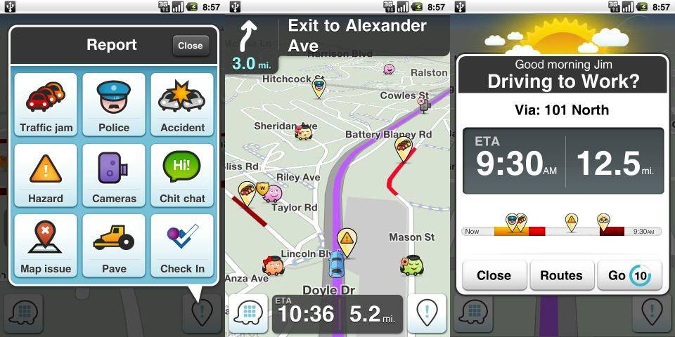 Waze traffic app updates with Foursquare and Yelp