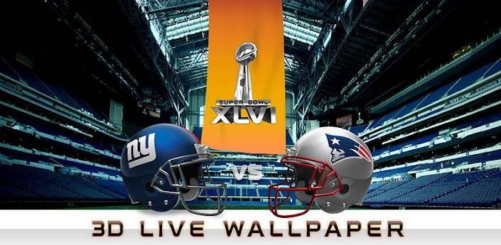 NFL Super Bowl 3D Live Wallpaper — Get it before the big game