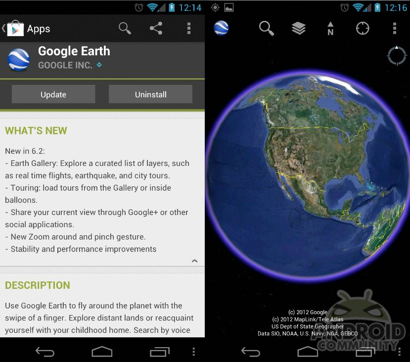 Google Earth update brings Earth gallery and social