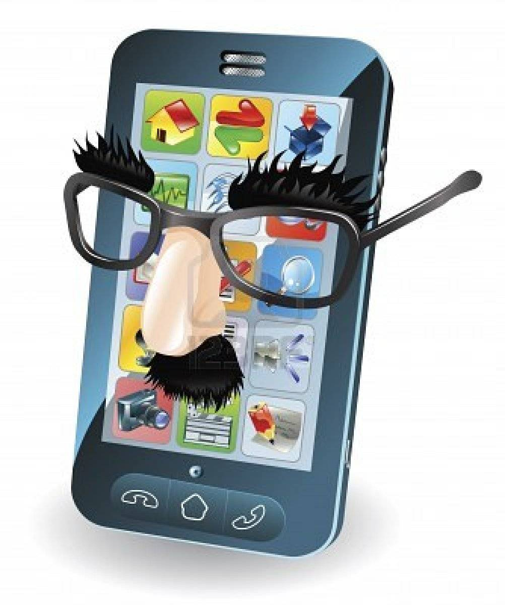 10099705-mobile-phone-with-disguise-on-concept-for-chipping-phone-or-cloning-sims-etc
