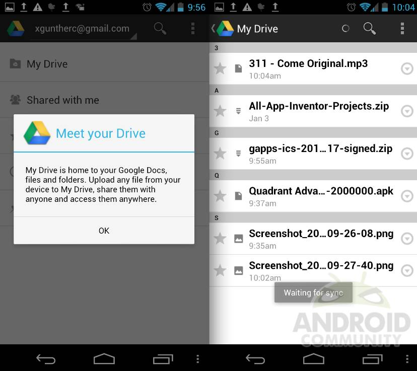 Google Drive hands-on and impressions - Android Community
