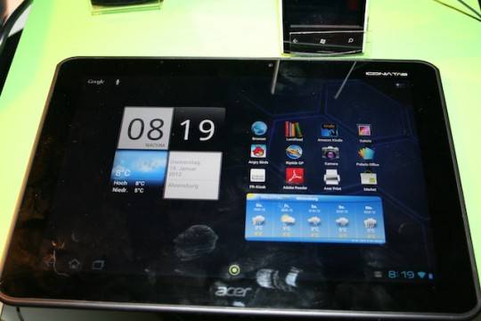 Acer Iconia Tab A700 spotted at the FCC