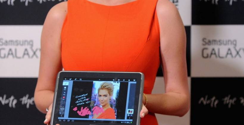 Kate Upton attends the Samsung Galaxy Note 10.1 Launch Event in New York City -09