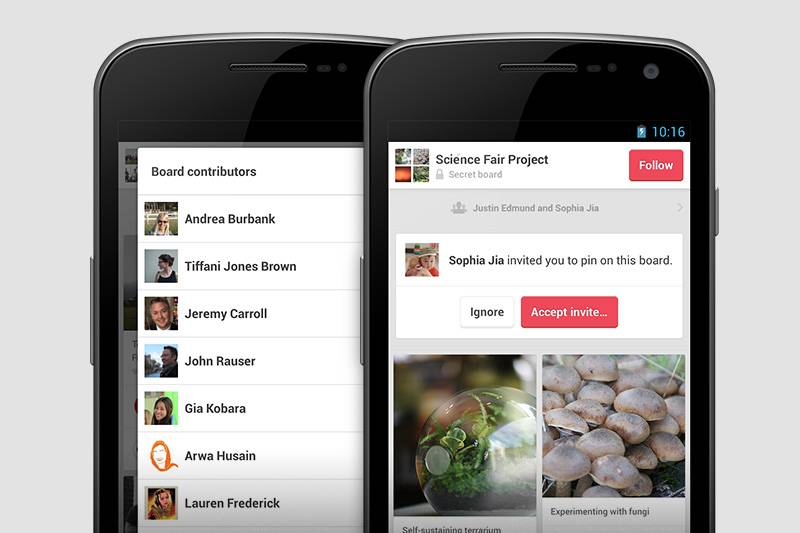 Pinterest gets more social in new update, improves group boards