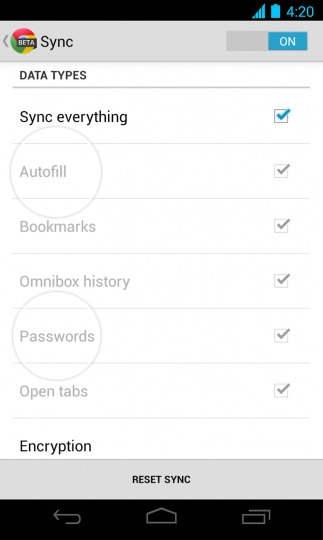 Chrome for Android Beta m26