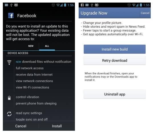 facebook-silent-update