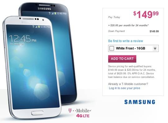 T-Mobile GALAXY S 4 online availability kicks off today - Android