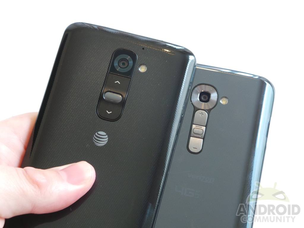 LG G2 Verizon vs AT&T: Battle of the buttons