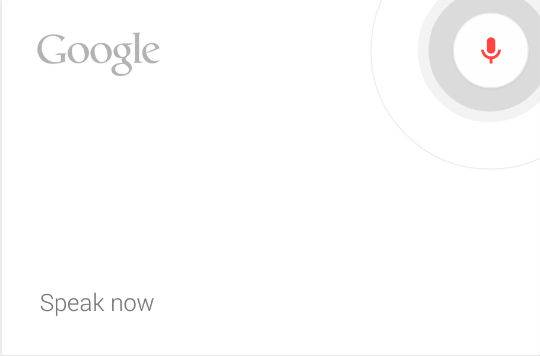 Google Now can be launched with