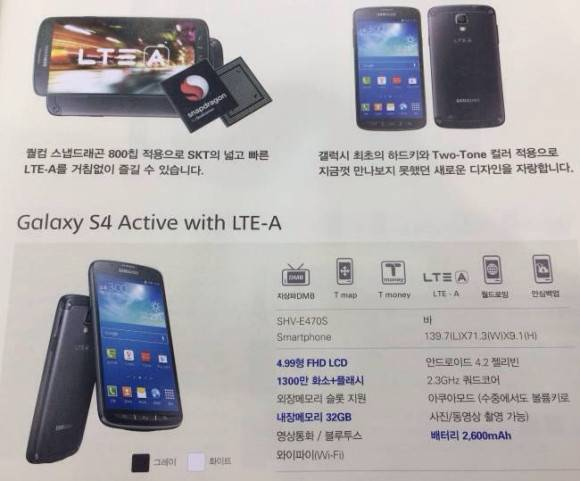 Galaxy S4 Active Korea