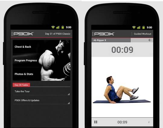 P90X fitness app arrives to motivate Android users - Android Community
