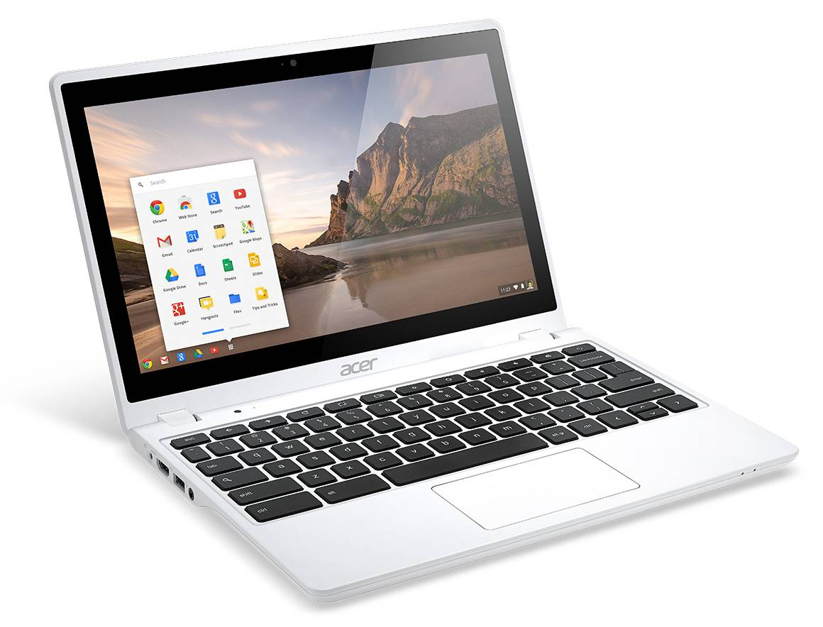 Acer C720 Chromebook white touch right angle-1