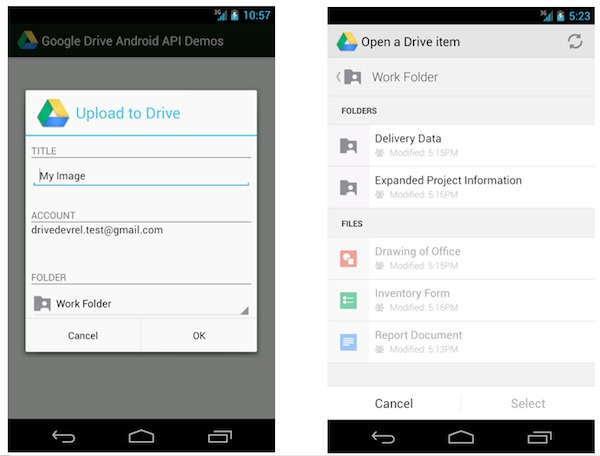 Google Drive Android API released - Android Community