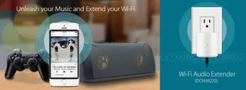 D-Link's WiFi Audio Extender to stream music, extend connection