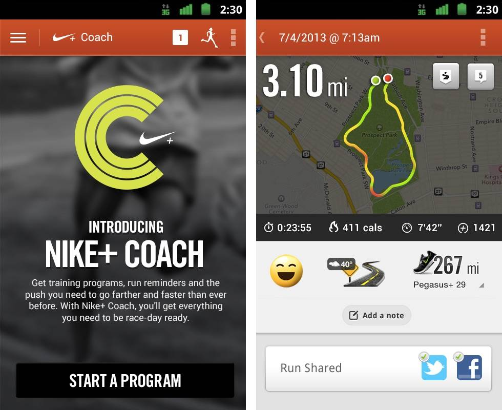 Agregar billetera su  Nike+ Running app update brings a variety of training programs - Android  Community