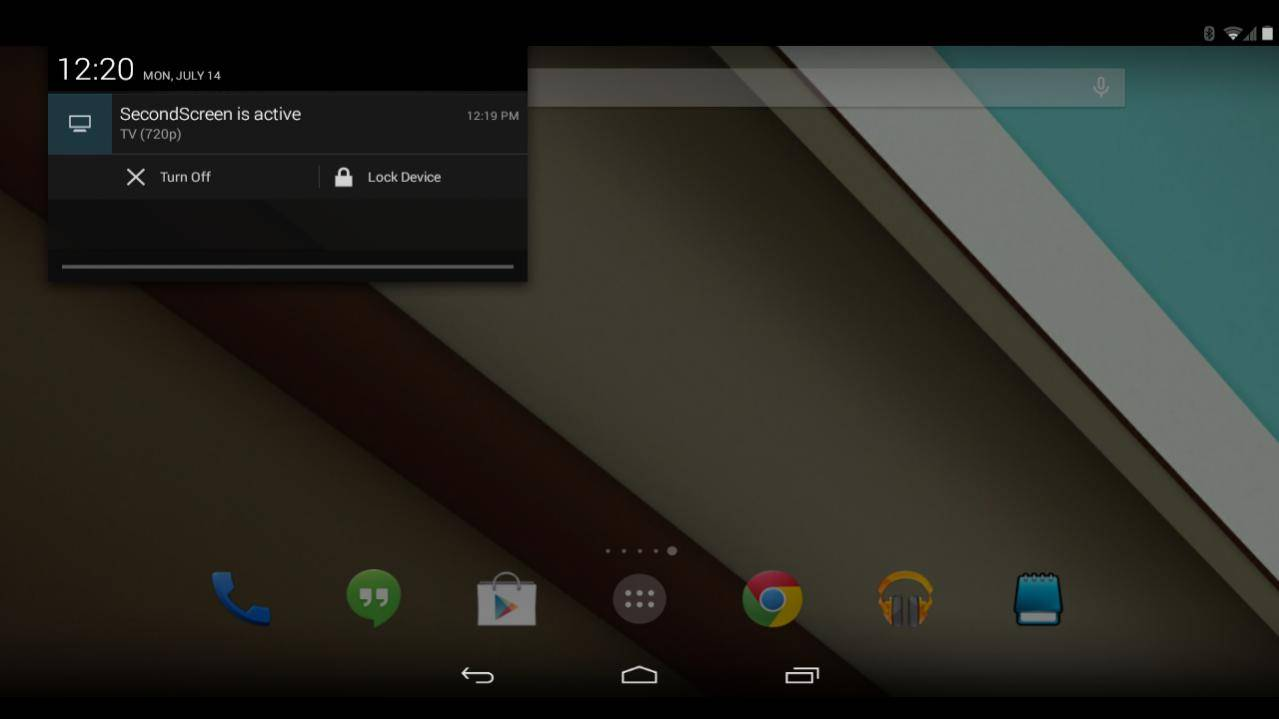 Second Screen app allows more control casting your device's display