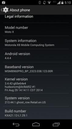 Moto X T-Mobile Android 4.4.4 KitKat