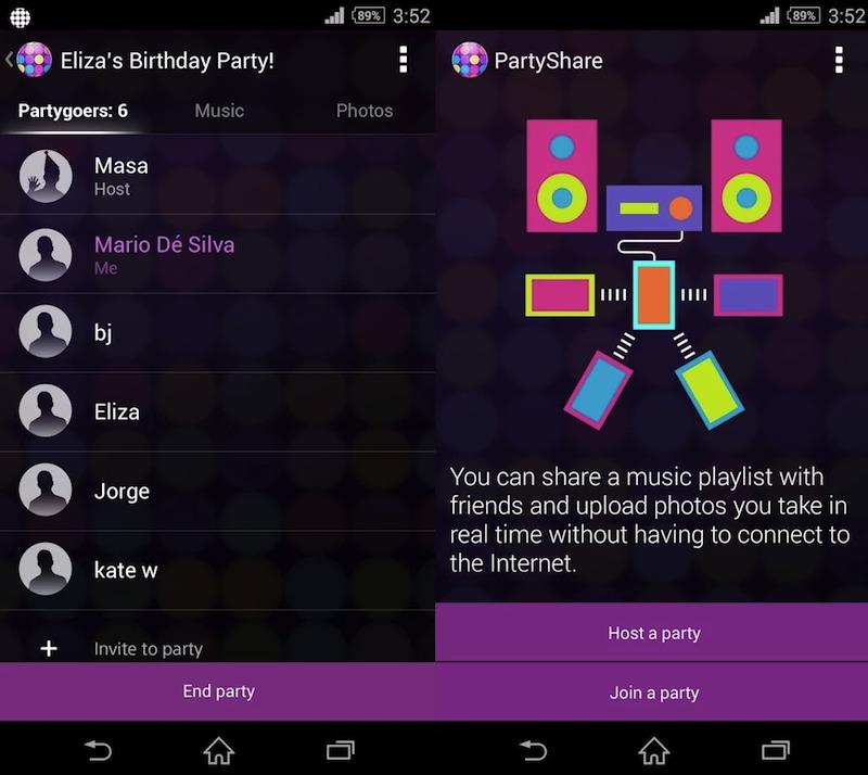 Sony PartyShare App