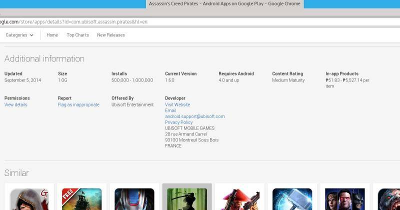Google Play Store now shows IAP price range, dev address