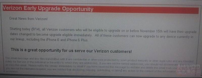 verizon early upgrade opportunity