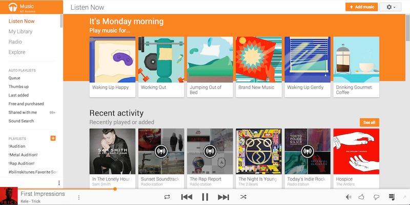 google music songza integration