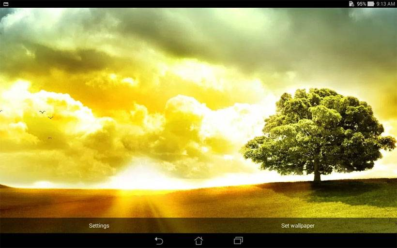 The Asus Day Scene wallpaper is also a live wallpaper collection that has five different backgrounds. The backdrops change to reflect the time of day with ...