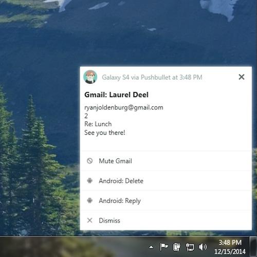 beta Windows app pushbullet