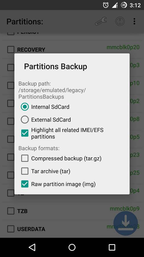 Partitions Backup & Restore app hits Android and requires