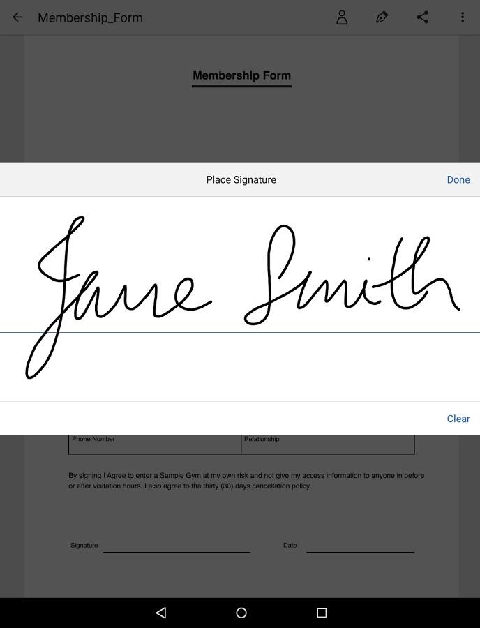 Adobe Fill n Sign